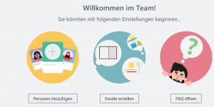 MS-Teams-App Oberfläche